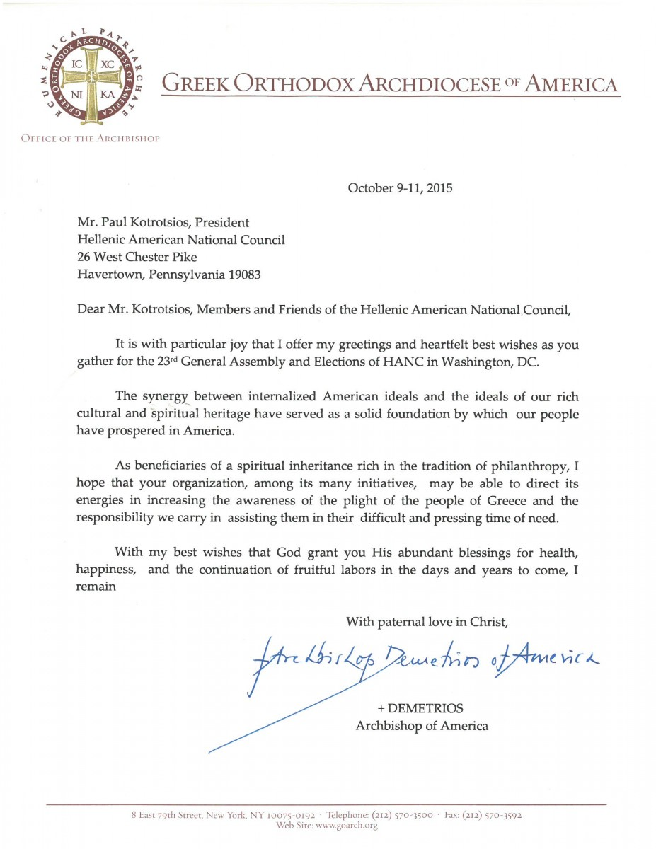 Archbishop letter to hanc HANC 2015 (1)
