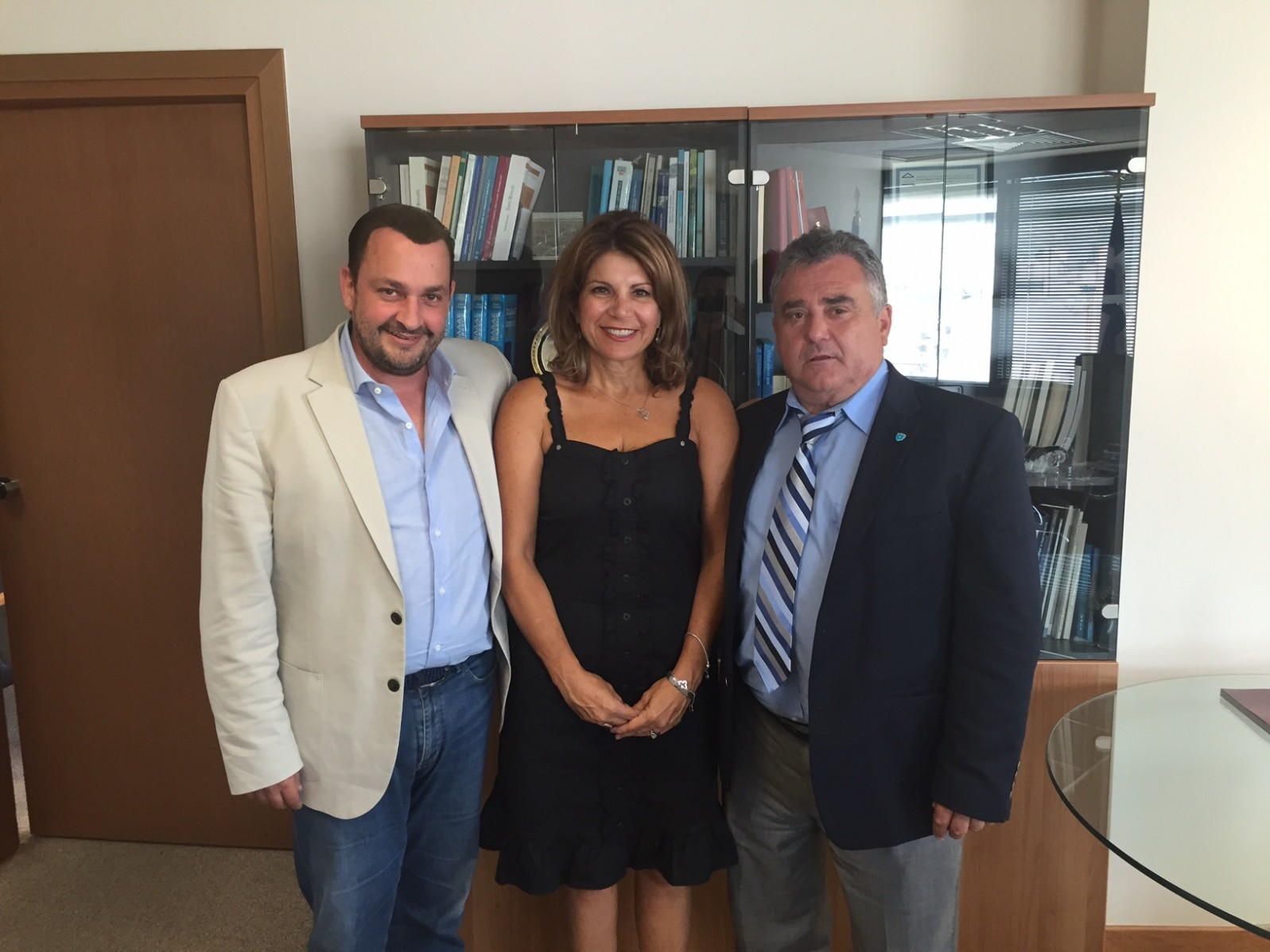 Bill Mataragas, president of HANC met with the Secretary General of the Greeks Abroad Mr. Kokkinos