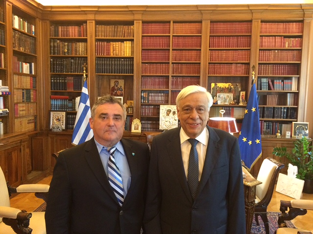 Bill Mataragas, president of HANC met with the President of the Hellenic Republic